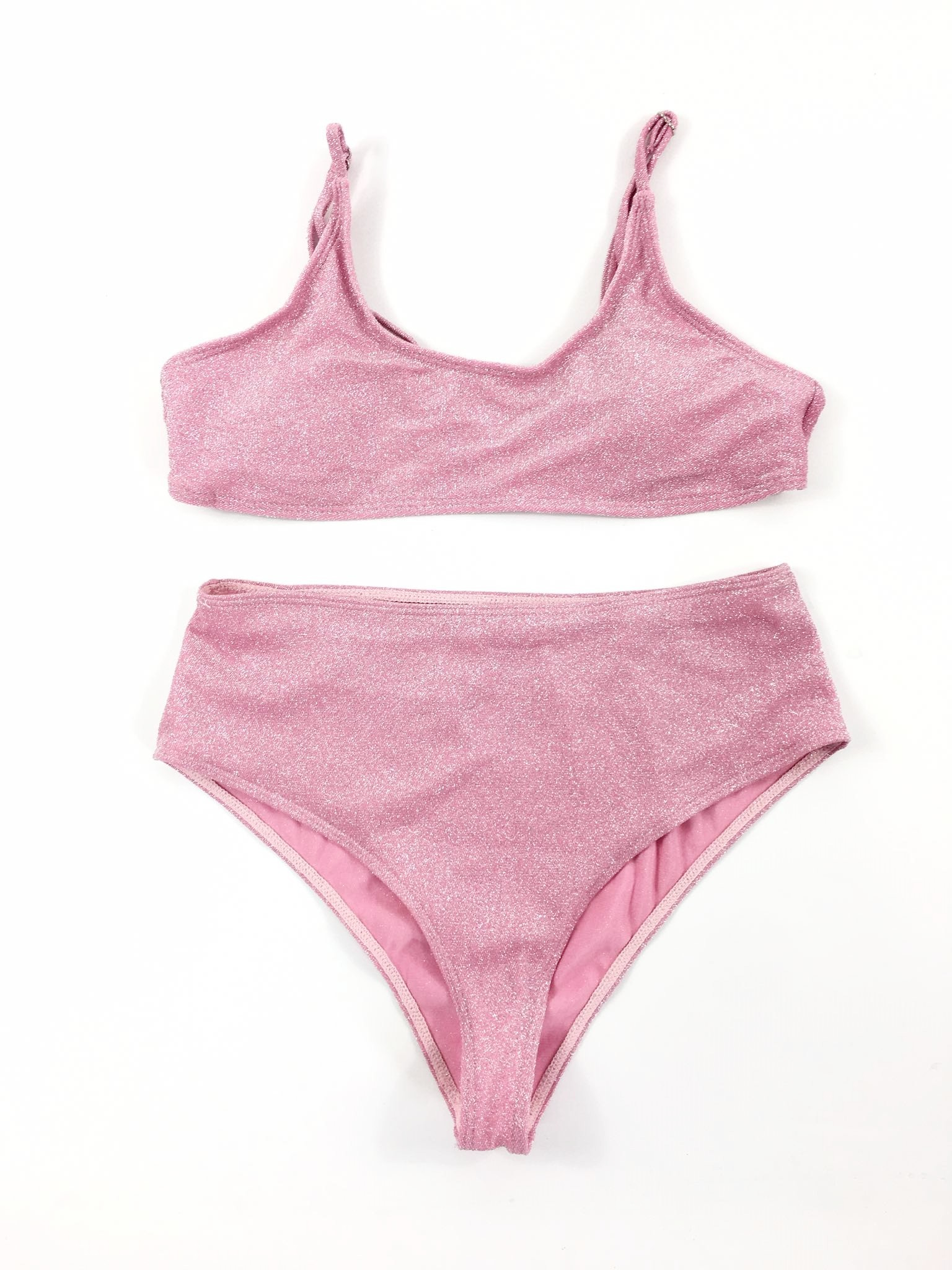 różowy strój kąpielowy kostium